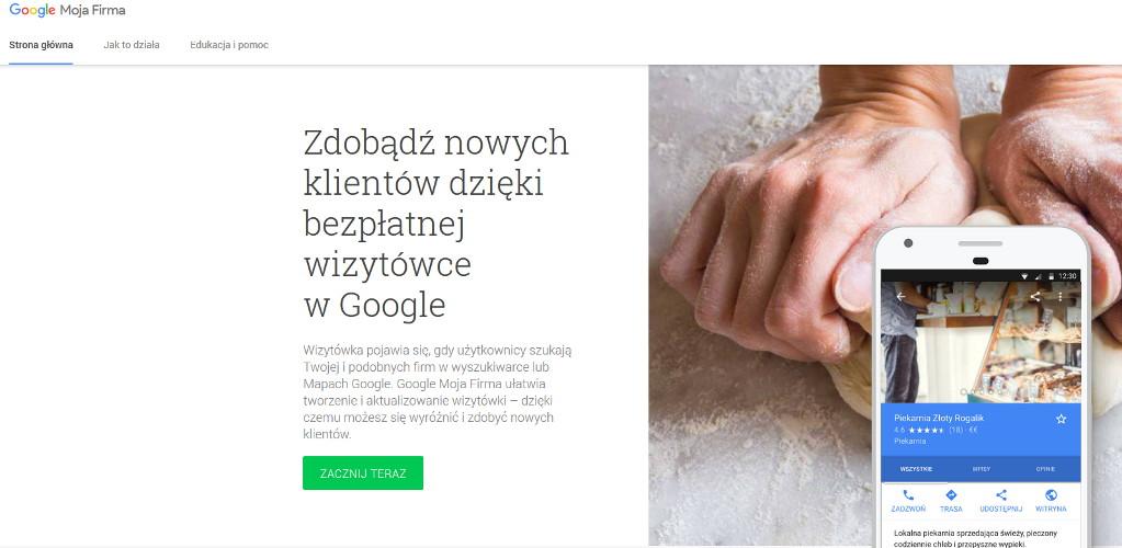 Google moja firma - pozycjonowanie lokalne