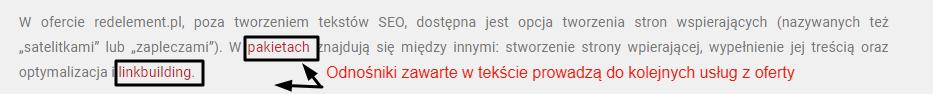 Optymalizacja tekstu - linkowanie wewnętrzne - redelement.pl