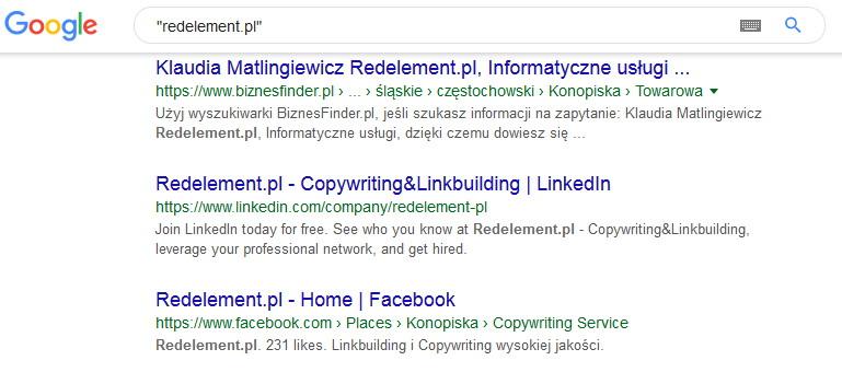 Wyniki wyszukiwania dla Redelement